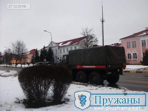 26-27 декабря в Пружанах слышали взрывы: группа разминирования уничтожала снаряды времён войны