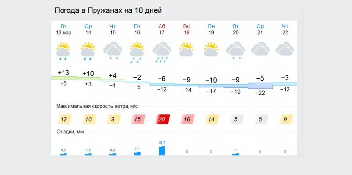 Опять зима? Резкое похолодание в Пружанах: ветер, мороз до минус 22, сильный снег, гололедица