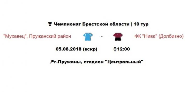 В воскресенье, 5 августа, в Пружанах футбол «Мухавец» — «Нива»
