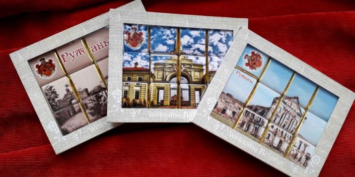 У Ружанскім палацавым комплексе роду Сапегаў прадстаўлены шырокі асартымент сувенірнай прадукцыі