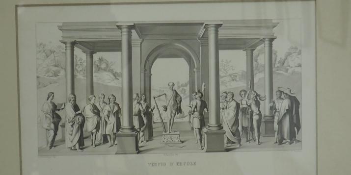 Пружанский палацик - выставка репродукций гравюр