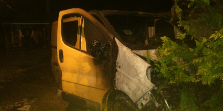 В результате пожара на Костякова поврежден автомобиль