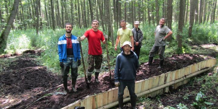Пружанское предприятие мелиоративных систем и АПБ построили первые плотины на реке Соломенка