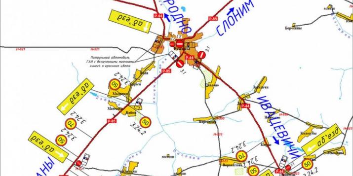 Вашему вниманию схема ограничения движения в Ружанах 31 августа в связи с Дожинками
