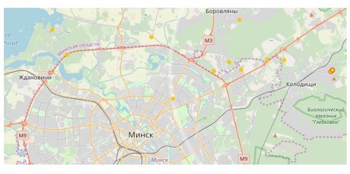 Прямо сейчас в Минске сверкают молнии, гремит гром и идёт снег