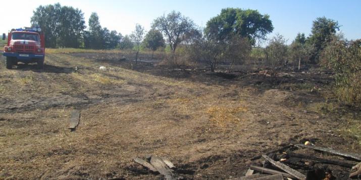 В результате двух пожаров, произошедших за последние сутки, уничтожено хозяйственное строение и баня