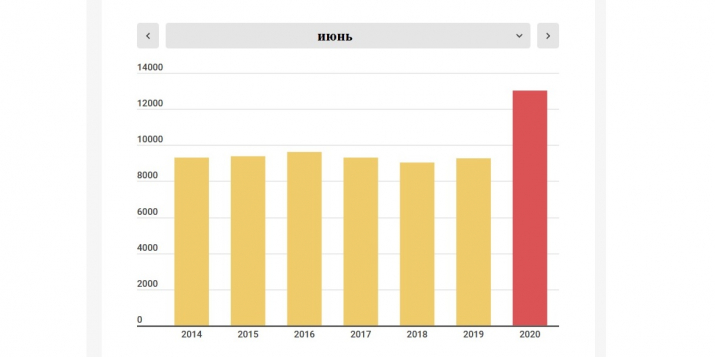 Белстат не опубликовал статистику смертности в Беларуси в 2020г., но передал ее в ООН. Она шокирует