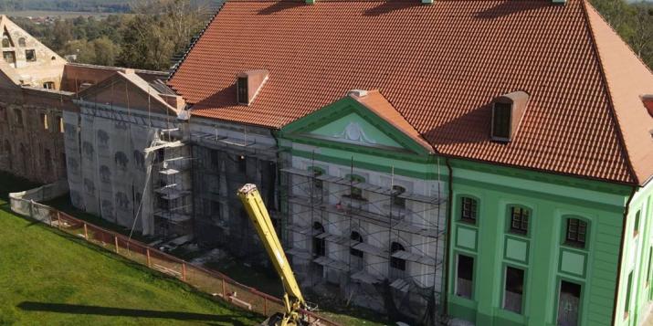 Як зараз выглядае тэатральны корпус Ружанскага палацу