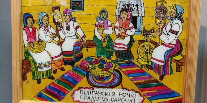 Забытый народный промысел росписи по стеклу представила мастер из Пружан на выставке в Бресте
