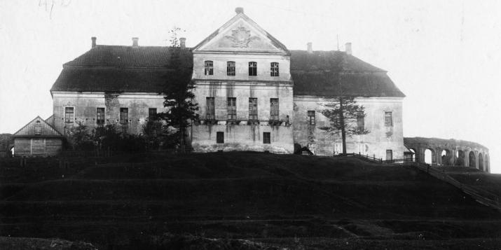 А вы пазналі Ружанскі Палац Сапегаў? Фотаздымак з Ружанаў перыяду 1901 - 1914 гадоў