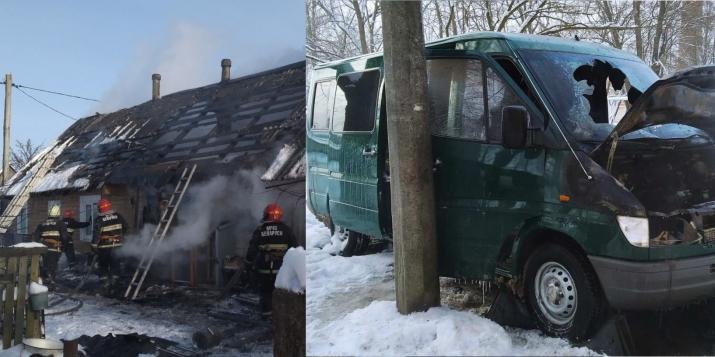 На территории Пружанского района за несколько прошедших дней произошло пять пожаров