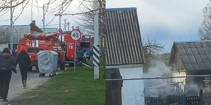 Вчера был пожар в жилом доме в Ружанах.