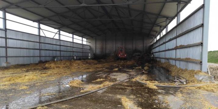 Вчера в Пружанском районе был пожар в сеноскладе