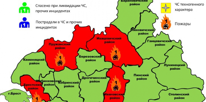 Вчера в Клепачах Пружанского района был пожар