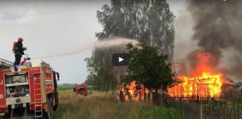 Пажар у Пружанскім раёне, меркавана з-за маланкі