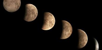 Как выглядело первое лунное затмение 2019 года в Беларуси и других странах