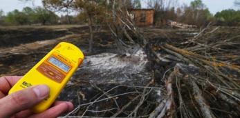 Горят леса в Чернобыльской зоне отчуждения(превышение радиации в 16 раз), ветер в сторону Беларуси