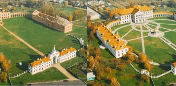 Посмотрите как Ружанский дворец за 9 секунд из нынешнего состояние превращается в отреставрированный
