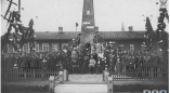 Открытие памятника Ромуальду Траугутту,одному из руководителей восстания 1863-64, в Слобудке в 1930г