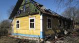 В Березнице в результате пожара дом уничтожен полностью