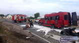 Жуткое ДТП в Видомле - у фуры отказали тормоза и она протаранила маршрутку с людьми
