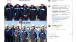 Фотофакт: первый состав начальников смены Пружанской ТЭЦ 16.10.2009г. и фото 10 лет спустя