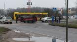 Фото сегодняшней аварии на кольце в Пружанах.