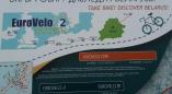 Як выглядае інфармацыйны стэнд маршруту EUROVELO-2 у Пружанах. Шмат фота