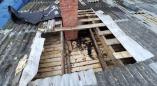 В выходной день в Порослянах горела частная баня