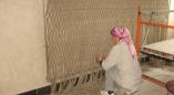 Фоторепортаж:как Елена Гнаук с Натальей Левкавич панно для столовой льнозавода Пружан из льна делали