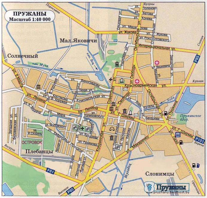 Карта г.Пружаны